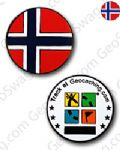 Norwegian Flag Micro Geocoin - Norway
